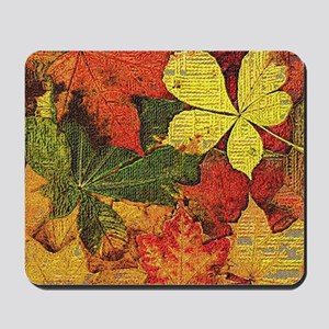 Textured Autumn Leaves Mousepad
